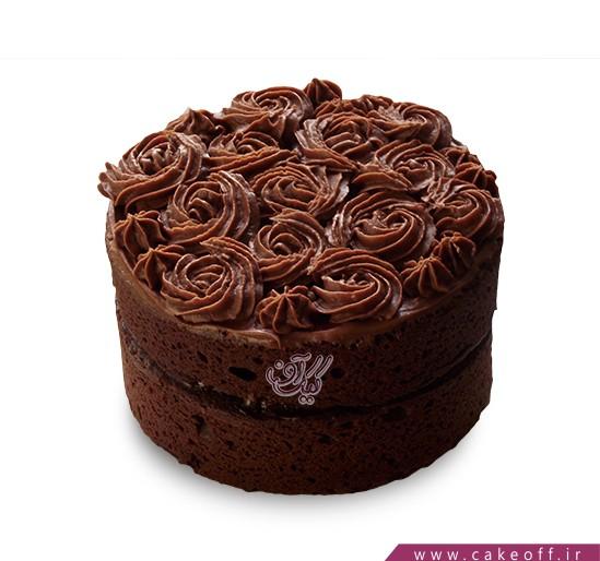 سفارش کیک کادویی - کیک رز کاکائو | کیک آف