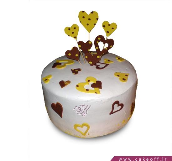 خرید کیک تولد - کیک قلب های برافراشته | کیک آف