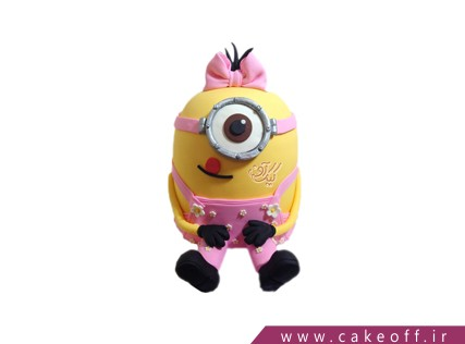خرید آنلاین کیک - کیک تولد مینیون - کیک مینیون دختر ملوس | کیک آف