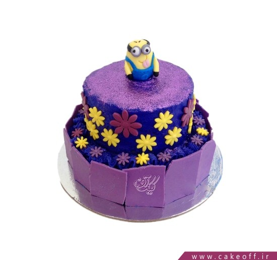 کیک مینیون در باغ بنفش | کیک آف