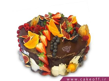 کیک با تزیین میوه - کیک میوه ای 8 | کیک آف