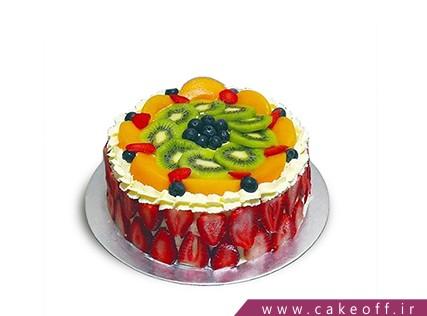 کیک با تزیین میوه - کیک میوه ای 9 | کیک آف