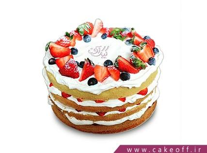 کیک با تزیین میوه - کیک میوه ای 11 | کیک آف