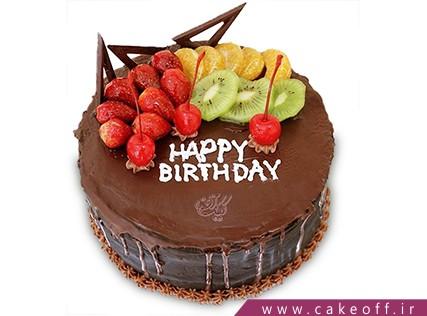 کیک با تزیین میوه - کیک میوه ای 12 | کیک آف