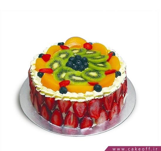 کیک با تزیین میوه - کیک میوه ای ۹ | کیک آف