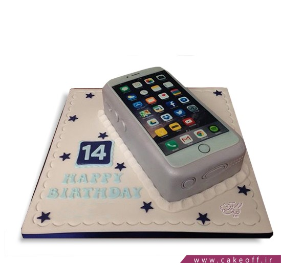 کیک تولد گوشی - کیک موبایل ۸ | کیک آف