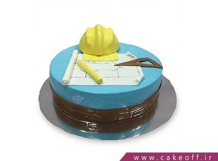 کیک روز مهندس - کیک ساخت و ساز | کیک آف
