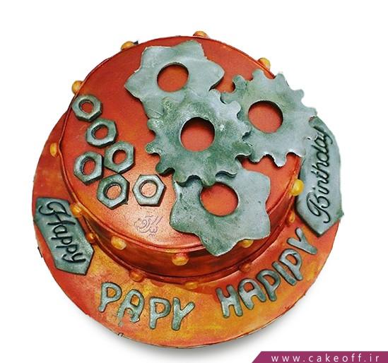 کیک روز مهندس - کیک مهره های آهنی | کیک آف