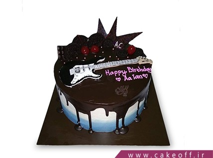 کیک تولد گیتار - کیک گیتار ستاره های راک | کیک آف