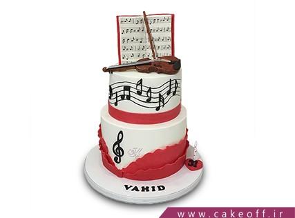 کیک تولد موسیقی - کیک ویولن - کیک به یاد علی تجویدی | کیک آف