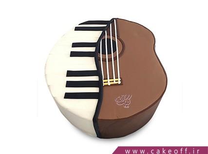 کیک تولد موسیقی - کیک ویولن - کیک به یاد همایون خرم | کیک آف