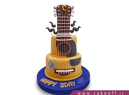 کیک تولد موسیقی - کیک گیتار خوش نوا | کیک آف