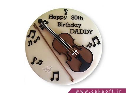 کیک تولد موسیقی - کیک به یاد ذوالفنون | کیک آف