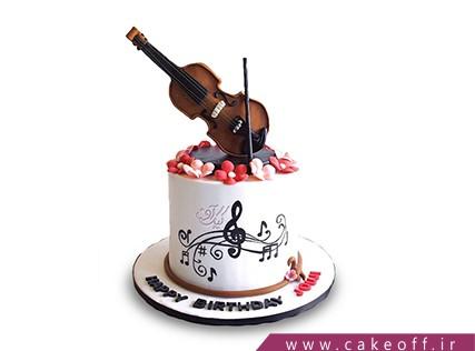 کیک تولد موسیقی - کیک به یاد یاحقی | کیک آف