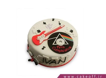 کیک تولد موسیقی - کیک گیتار پینک فلوید 2 | کیک آف