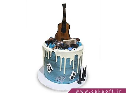 کیک تولد موسیقی - کیک گیتار اریک کلپتون | کیک آف