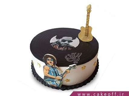کیک تولد موسیقی - کیک گیتار لنی کراواتیز | کیک آف
