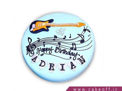 کیک تولد موسیقی - کیک گیتار جانی رامون | کیک آف
