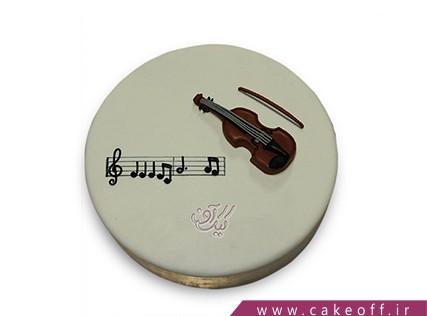 کیک تولد موسیقی - کیک ویولون به پاس کامکارها  | کیک آف