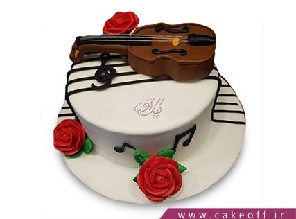 کیک تولد موسیقی - کیک بهترین ویولونیست | کیک آف