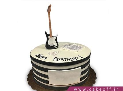 کیک تولد موسیقی - کیک گیتار کیت ریچاردز | کیک آف