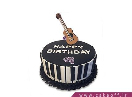 کیک تولد موسیقی - کیک گیتار بی بی کینگ | کیک آف