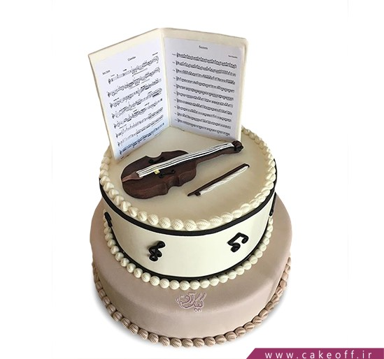 کیک تولد موسیقی - کیک ویولن تارا کمانگر | کیک آف