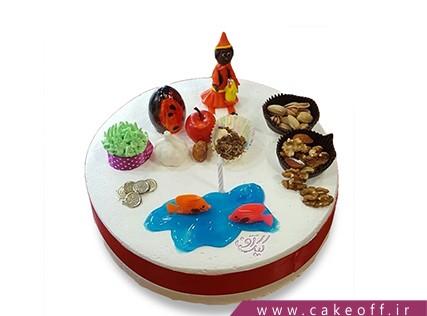 کیک عید نوروز - کیک سفره هفت سین کامل | کیک آف