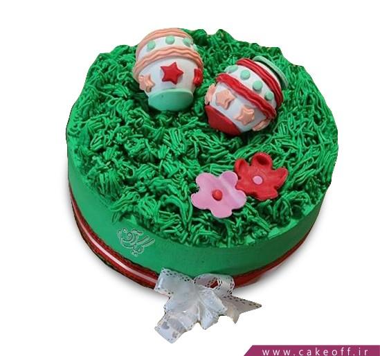کیک تخم مرغ های رنگی