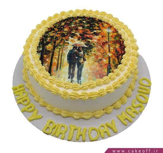 کیک تولد زیبا - کیک پاییز دو نفره | کیک آف