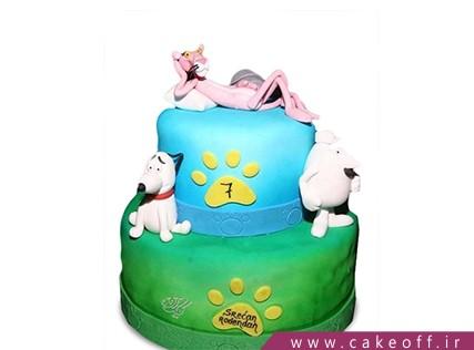 کیک تولد بچه گانه پلنگ صورتی 3 | کیک آف