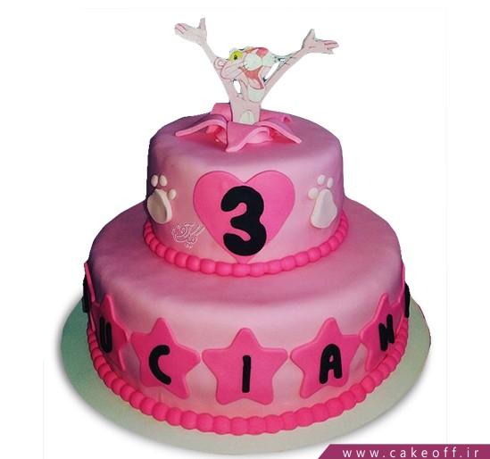 کیک تولد بچه گانه پلنگ صورتی 1 | کیک آف