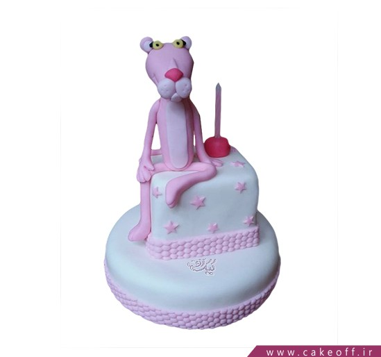 کیک تولد بچه گانه پلنگ صورتی 2 | کیک آف