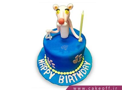 کیک تولد بچه - کیک پلنگ صورتی 10 | کیک آف