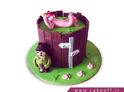 کیک تولد بچه ها - کیک پلنگ صورتی 5 | کیک آف