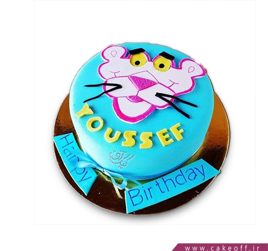 کیک تولد بچه - کیک پلنگ صورتی ۹ | کیک آف