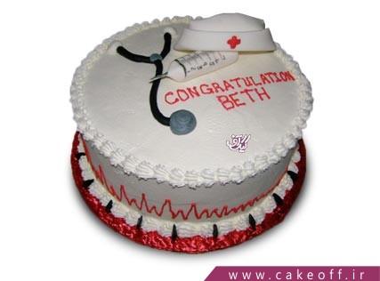 کیک پرستاری - کیک پرستار شب بیدار | کیک اف