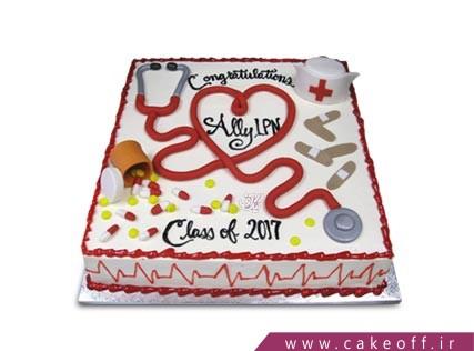 کیک روز پرستار - کیک پرستار دلسوز من | کیک آف