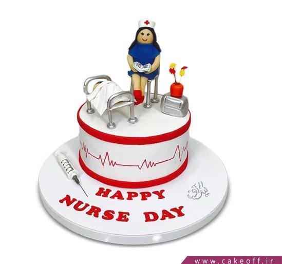 کیک روز پرستار - کیک پرستارم باش | کیک آف
