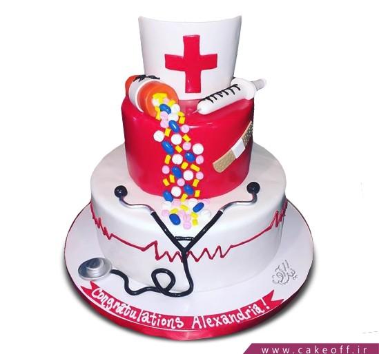 کیک روز پرستار - کیک مای نرس   کیک آف