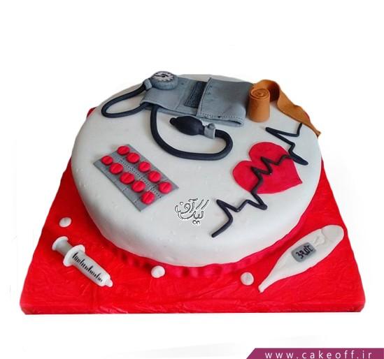 کیک روز پرستار - کیک هارت بیت | کیک آف