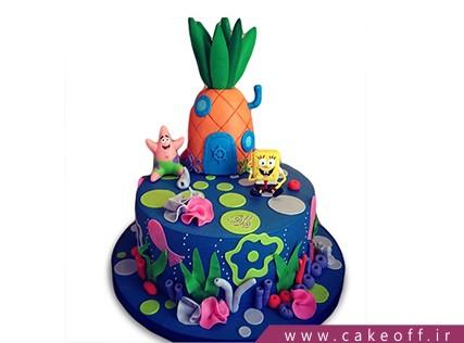 انواع کیک تولد - کیک تولد باب اسفنجی و پاتریک 2 | کیک آف