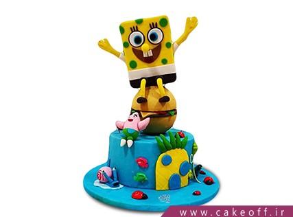 انواع کیک تولد - کیک تولد باب اسفنجی و پاتریک 3 | کیک آف