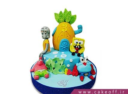 انواع کیک تولد - کیک تولد باب اسفنجی و پاتریک 4 | کیک آف