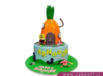 انواع کیک تولد - کیک تولد باب اسفنجی و پاتریک 5 | کیک آف