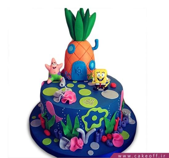 کیک تولد باب اسفنجی و پاتریک 2