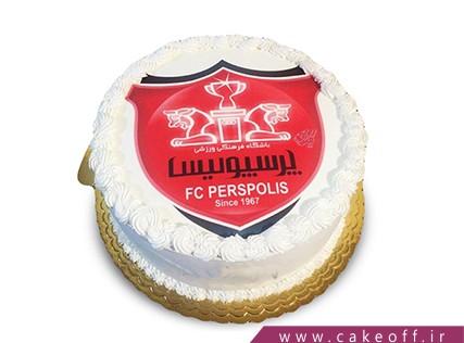 کیک تولد پرسپولیسی - کیک همیشه قرمز | کیک آف