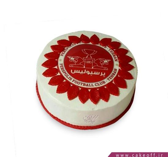 کیک تولد پرسپولیسی - کیک قرمز قهرمان | کیک آف