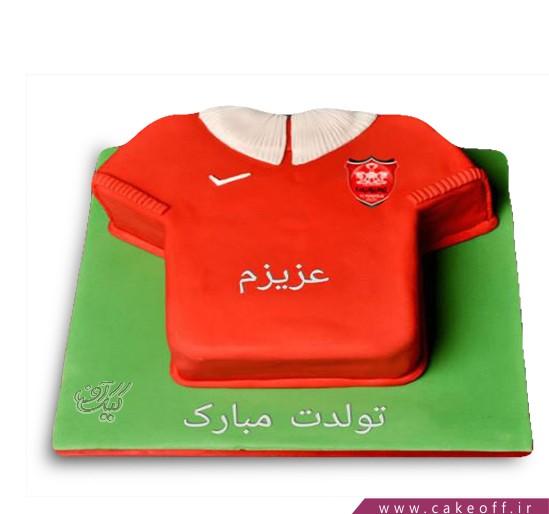 کیک تولد پرسپولیسی - کیک پرسپولیس زلزله | کیک آف