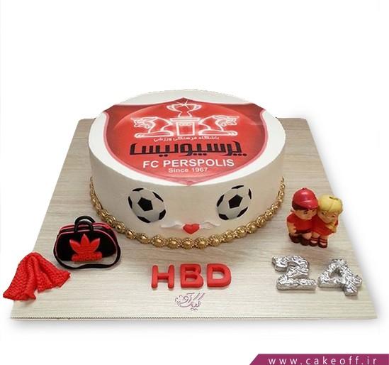 کیک تولد پرسپولیسی - کیک قرمز سرور | کیک آف